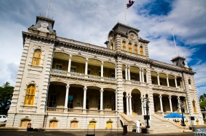 Iolani Palace, the only royal palace on US soil.
